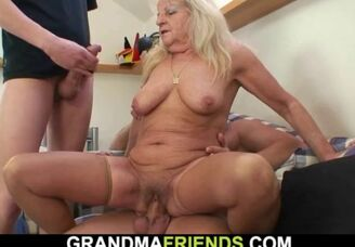 Naked furry grandmother